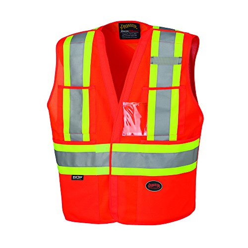 Vest Safety Tear Away (Pioneer V1020951U Hi-Vis Safety Tear-Away Vest - Orange (2/3XL))