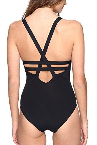 Damen Schwarz Bikini Ein Brasilien V Schwarzen Badeanzug Tiefen Stück Yacun