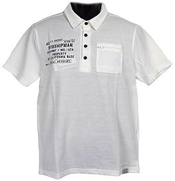 42703d7aacf0d Clack (クラック) ポロシャツ ミリタリーテイスト 半袖 プリント ジップ付き ポケット 襟 トップス ゴルフ 春
