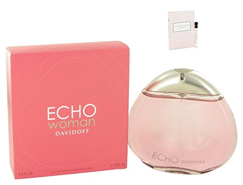 Echo Perfume By Davidoff Eau De Parfum Spray For Women 3.4 oz 100 ml. + Free! Sample Venezia Perfume 0.03 oz - Black Diorissimo