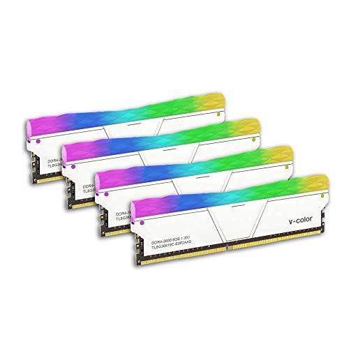 V-Color Prism II RGB (for AMD Ryzen) 32GB (4 x 8GB) DDR4 3600MHz (PC4-28800) Desktop Memory Module Ram (TL8G36818C-E0P2SBOFPQ)