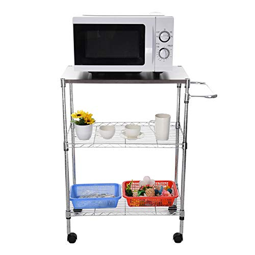 Tronet Kitchenware 4-Shelf Storage Rack Microwave Oven Holder Wheeled Trolley [Ship from USA Directly] by Tronet (Image #6)