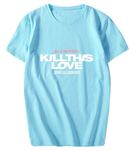 babyHealthy Kpop Blackpink New Album Kill This Love T-Shirt Jisoo Jennie Rose Lisa Cotton Tee Shirt Tops