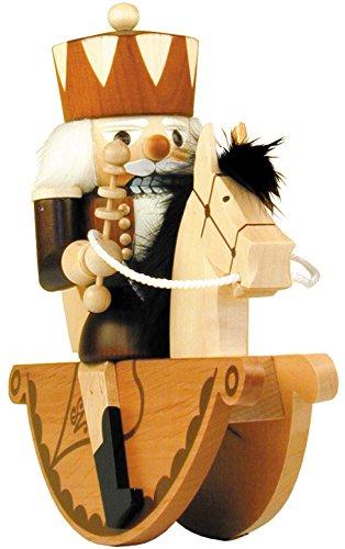 32-403 - Christian Ulbricht Mini Nutcracker - King Rider - 9.25''''H x 10''''W x 4''''D by Alexander Taron Importer