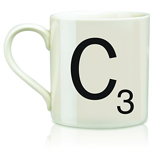 "SCRABBLE Vintage Ceramic Letter""C"" Tile Coffee Mug"