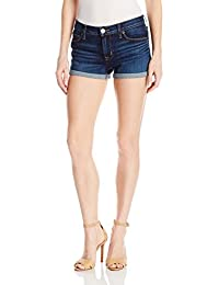 Hudson Jeans Women's Asha Midrse Cuffed 5-Pocket Denim Short