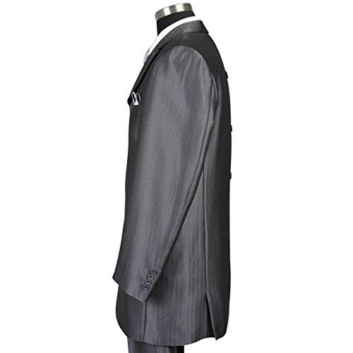 Milano Moda Men's 3 Piece Set Luxurious Wool Feel Suit HL5264 New York Brand by Milano Moda (Image #5)'