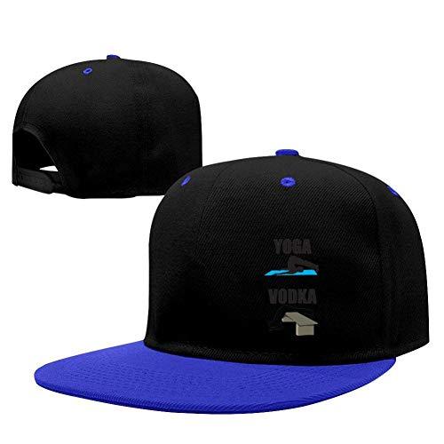 MADODC Yoga vs Vodka Brill Brim Baseball Cap Adjustable Denim Trucker Cap Jeans Hats ()