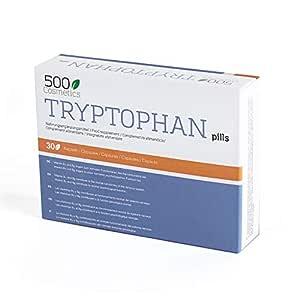 500Cosmetics Tryptophan - Cápsulas Naturales contra el Estrés y la ...