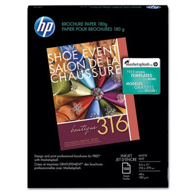 Price comparison product image HP Brochure Inkjet Paper, 8.5x11, Matte, 150 Sheets, 180 Gram CH016A