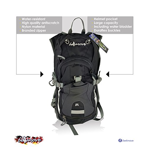 Hydration backpack water backpack 2L Water Bladder Running Hiking Cycling Skiing, Climbing (black)
