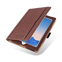 iPad 4 (Retina Display), iPad 3 & 2 Case, JAMMYLIZARD The Original Brown & Tan Leather Smart Cover
