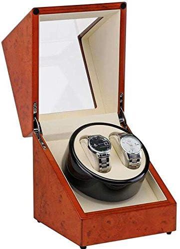 1257/5000 2つの腕時計のための静かなモーター木が付いている自動腕時計の巻取り機は二重収納箱を囲みます