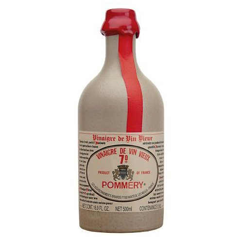 French Vinegar - Pommery Aged Red Wine Vinegar in stone crock bottle 16 oz