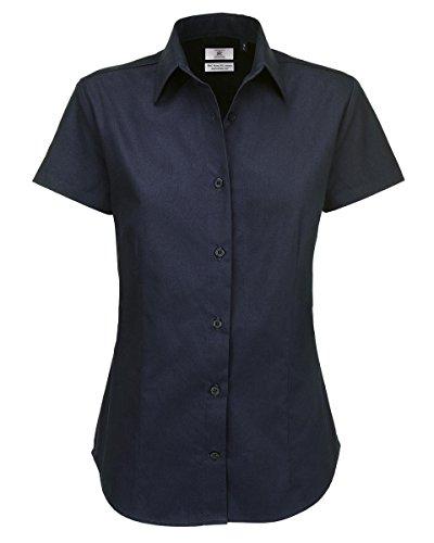 Mujer Bc Footwear navy Women's Short Para Blouse 000 Sharp amp;c Azul B Sleeve Camisa vSrd7wvq