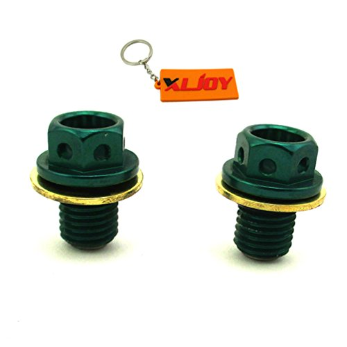 (XLJOY 2pcs Engine Magnetic Oil Drain Bolt Plug for 50cc 70cc 90cc 110cc 125cc CRF50 Pit Dirt Bike SSR SUNL ATV)