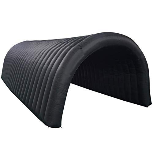Sayok Inflatable Tunnel Sports Tunnel Entrance Inflatable Tunnel Tent for Event Exhibition Promotion(Black, 24x8.9x6.9ft) ()
