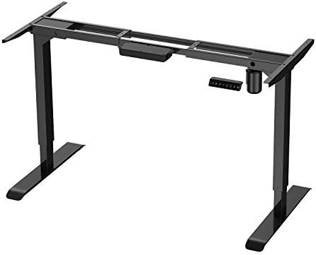 AIMEZO Electric Stand Up Desk Workstation Ergonomic Height Adjustable Standing Desk Base Single Motor DIY Workstation