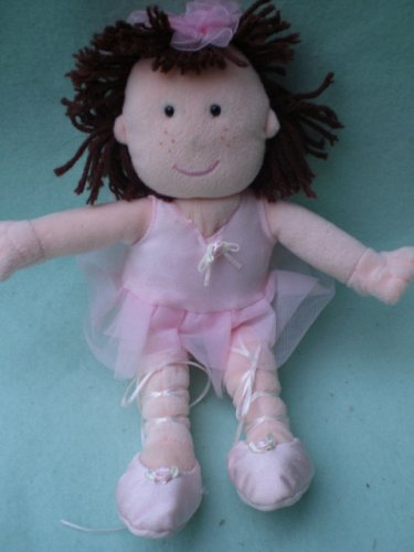 Stuffed Ballerina Doll Toy, By Animal Alley