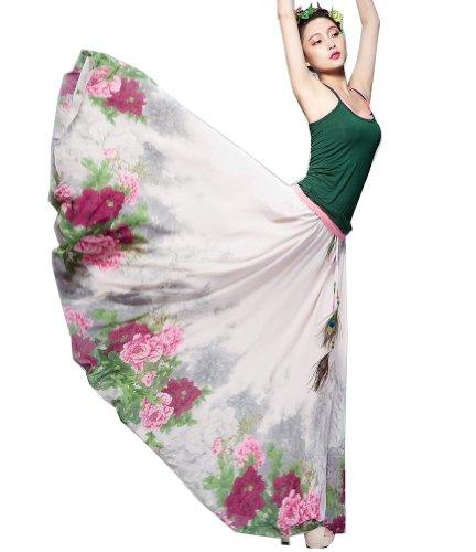 Izacu-Flocc-TM-Womens-Blending-Chiffon-Retro-Long-Maxi-Skirt-Vintage-Dress