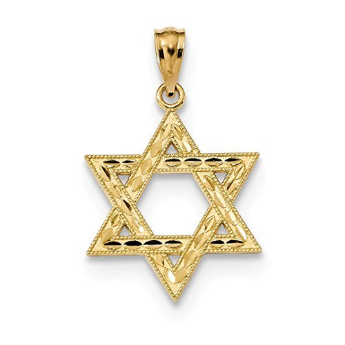 ICE CARATS 14k Yellow Gold Jewish Jewelry Star Of David Pendant Charm Necklace Religious Fine Jewelry Ideal Mothers Day Gifts For Mom Women Gift Set From (Designer Star Of David Necklace)