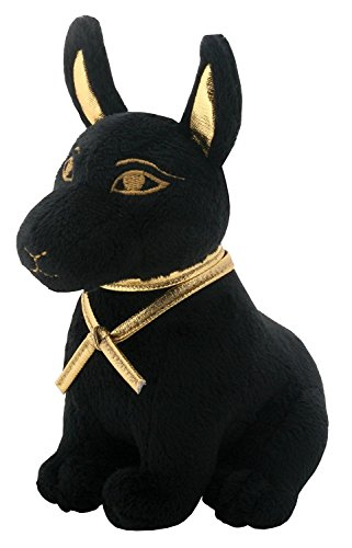 SUMMIT COLLECTION Black and Gold Ancient Egyptian Anubis Dog Puppy Small Plush Doll