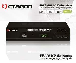 Octagon - Receptor de satélite octagon sf -118 de alta definición digital de entrada full hd usb ??