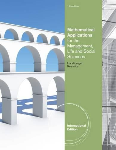 Mathematical Applications for the Management, Life, and Social Sciences, International Edition