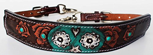 ProRider Horse Western Leather Wither Strap Breast Collar Hand Tooled Show Tack 105M80235 (Breast Tooled Collar)