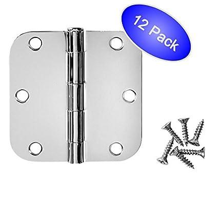Cosmas Polished Chrome Door Hinge 3.5u0026quot; Inch X 3.5u0026quot; Inch With  5/8u0026quot