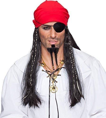 Adult Mens Ladies Caribbean Pirate Dreadlock Bandanna Hair TV Book Film Fancy Dress Costume Outfit Accessory Wig