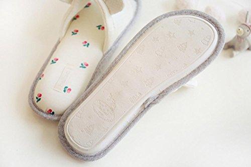 mhgao Ladies Casual Cartoon conejo Zapatillas Zapatillas de algodón transpirable cartoon