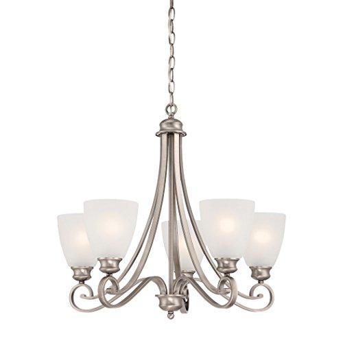(Philips Lighting TK0017741 Haven Five Light Chandelier Satin Pewter)