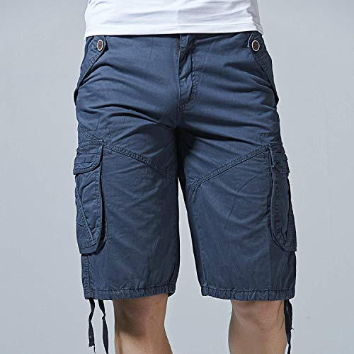 Giovane Jeans Dunkelblau Twill Cargo Da tasca Multi Bermuda Outdoor Pantaloni Corti Ufige Wear Pantaloncini Uomo Fashion Con wqR8TcA8