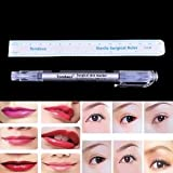 SLB Works Brand New Pro Surgical Skin Marker Pen Ruler Scribe Tool Tattoo Pierce Permanent Makeup HU
