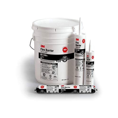 3M Fire Barrier Sealant FD 150+, Red, 4.5 Gallon Drum (Pail)