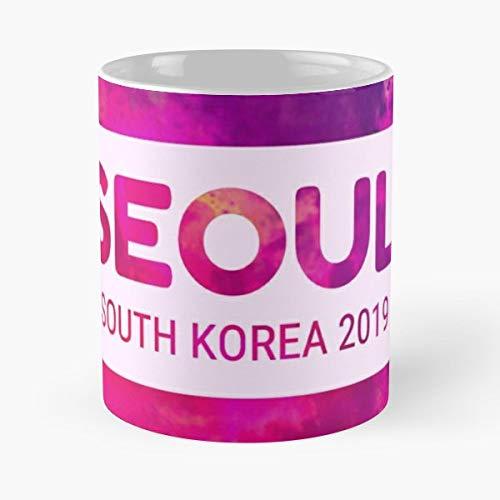 Seoul Korea Korean Kpop - Coffee Mugs Unique Ceramic Novelty Cup Best Gift