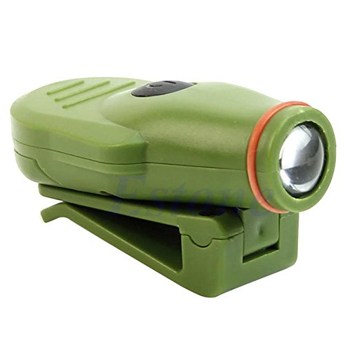 LIYUDL Mini Clip On Cap Hat Light ,Battery Operating Head Lamp For Fishing Camping Hunting Outdoor Green
