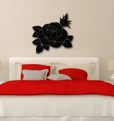 Wall Stickers Vinyl Decal Beautiful Rose Flower Plant Great Decor Bedroom (i174)