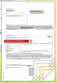 Mahnbescheid A4 Sd Rnk 703 6bl Für Arbeitsgericht Euro Amazonde