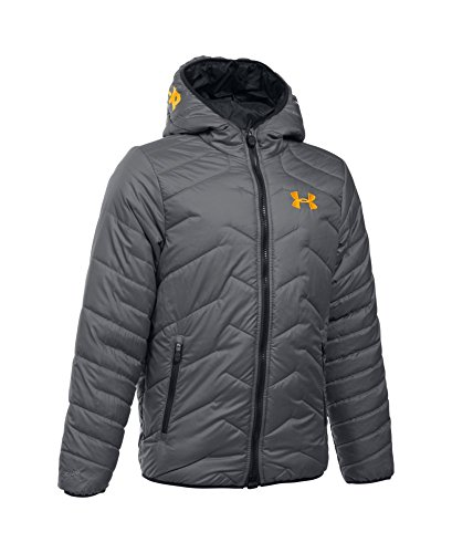 Under Armour Boys' ColdGear Reactor Hooded Jacket, Graphite (040), Youth X-Small