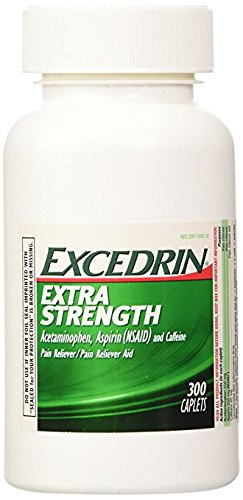 Excedrin Extra Strength Caplets, 2 Pack (600 Total Caplets) by Excedrin