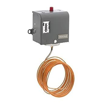 20 Capillary Honeywell L480B1239 Freeze Stat 20 Degree F to 60 Degree F Range 1 SPDT 10 Degree F Difference