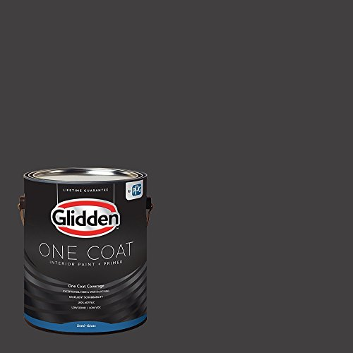 Glidden Interior Paint + Primer: Gray/Black Magic, One Coat, Semi-Gloss, 1 Gallon