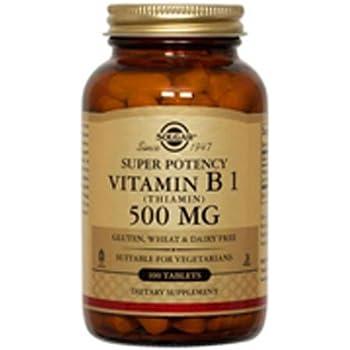 Solgar - Vitamin B1 (Thiamin) 500 mg, 100 Tablets
