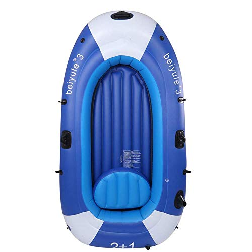 LLSZ Kayak Inflatable Boat Thick Wear-Resistant Fishing Boat Fast Travel Canoe, 3 People