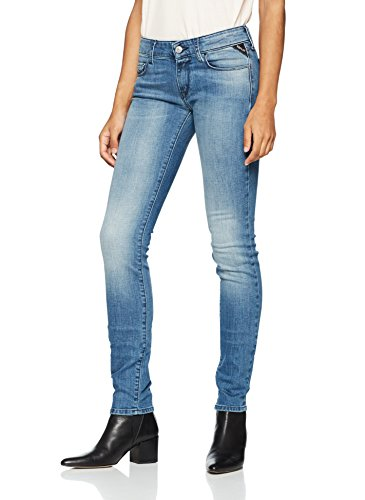 Light Vaqueros Rose Mujer Blue REPLAY 9 Azul para Slim Uqfwwxn