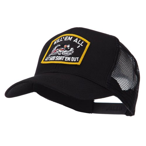 e4Hats.com Skull and Choppers Embroidered Military Patched Mesh Cap - Kill ()