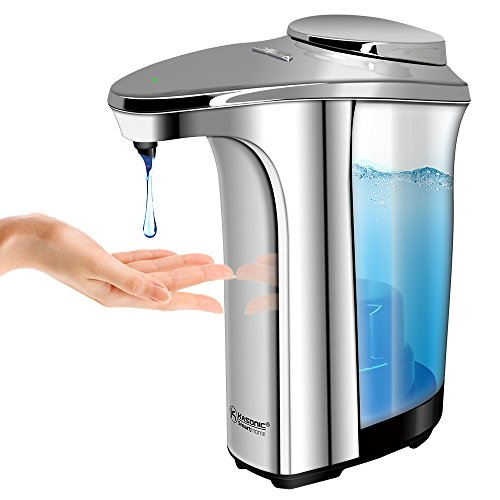 Operated Dispenser Battery (Kasonic Automatic Soap Dispenser, Touch-less Battery Operated; Water-Resistant; Infrared Motion Sensor; 17oz/500ml Large Capacity Perfect for Kitchen and Bathroom)