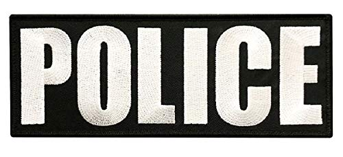 (Miltacusa Tactical Police Back Panel Hook Fastener Patch (8.0 X 3.0 inch))